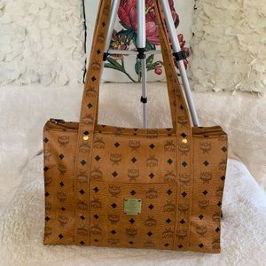 Viesto Heritage Shopper Tan Coated Canvas Tote